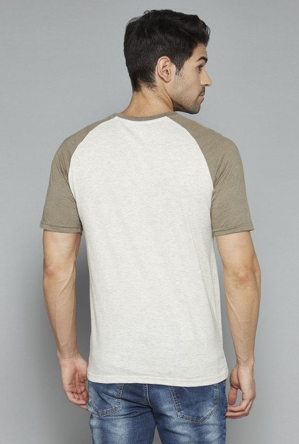 Nuon Beige Printed T Shirt