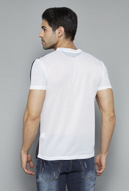 Nuon White Printed T Shirt