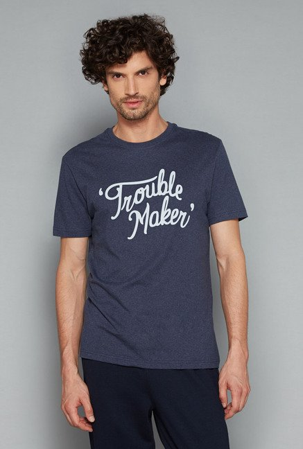 Bodybasics Navy Printed T Shirt