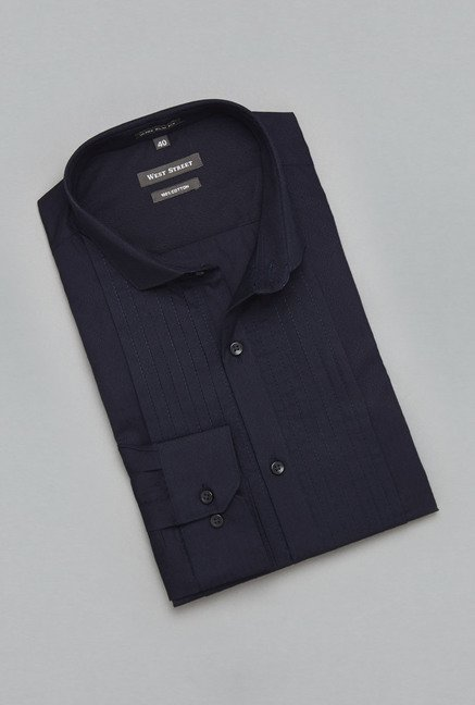 Weststreet Navy Solid Shirt