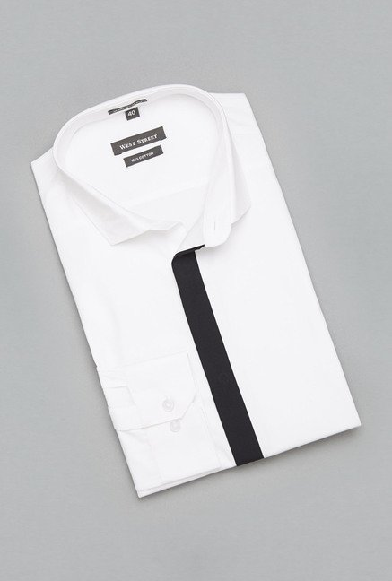Weststreet White Slim Fit Shirt