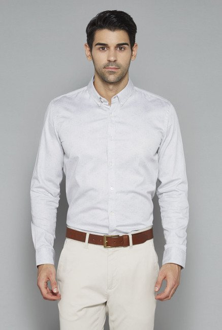 Ascot Grey Slim Fit Shirt