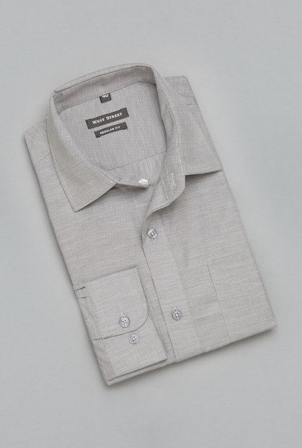Weststreet Grey Solid Shirt