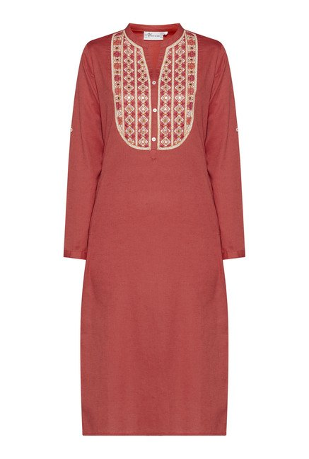 Utsa Coral Embroidered Kurta