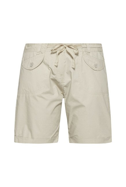 LOV Beige Solid Shorts