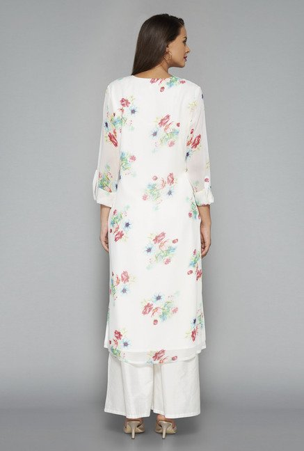 Vark Off White Floral Kurta Suit Set