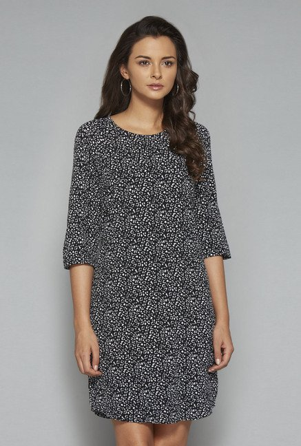 LOV Black Printed Dress