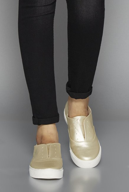 Head Over Heels Gold Flat Shoes