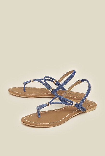 Zudio Navy Sling Back Sandals