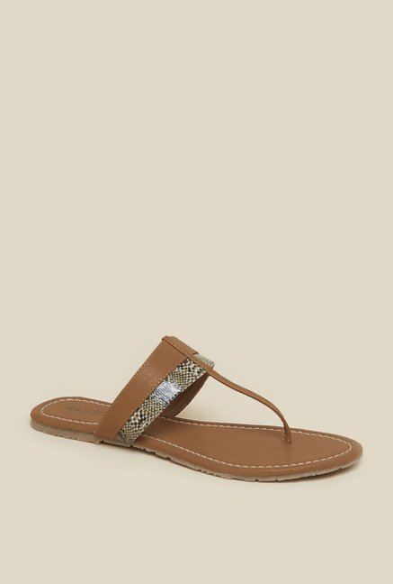Zudio Brown Flat Sandals