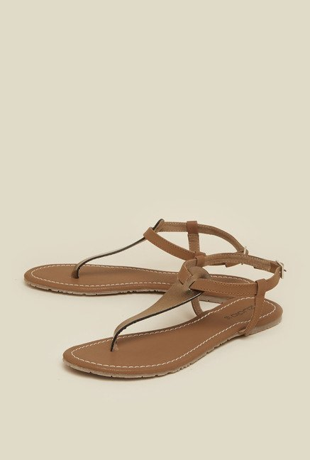 Zudio Dark Beige Back Strap Sandals