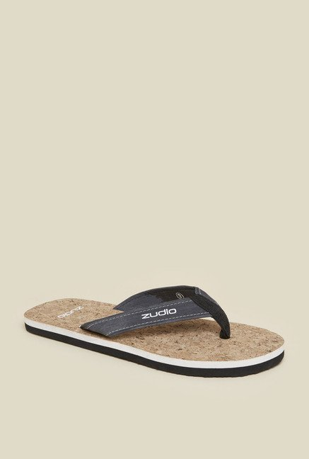 Zudio Blue & Grey Thong Flip Flops
