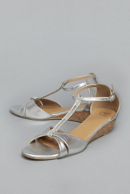 Head Over Heels Silver Ankle Strap Sandals