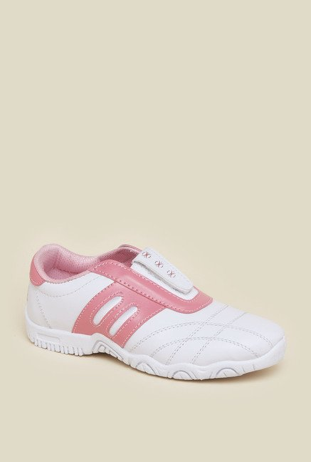 Zudio White & Pink Training Shoes