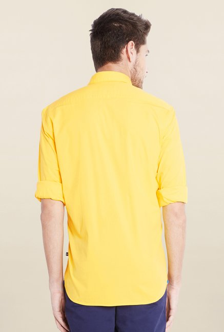Parx Yellow Solid Shirt