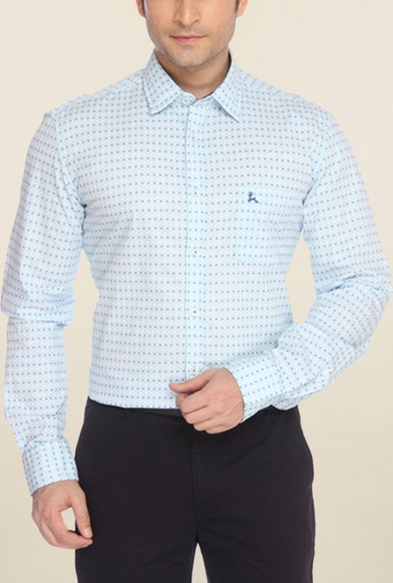 Parx Light Blue Printed Shirt