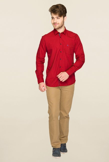 Parx Red Solid Shirt