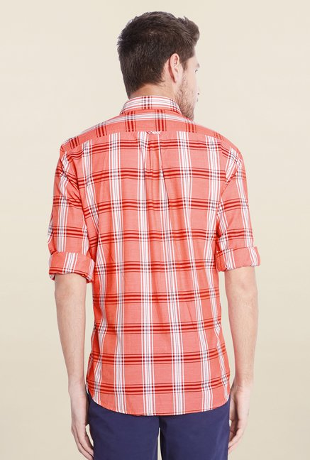 Parx Coral Checks Shirt