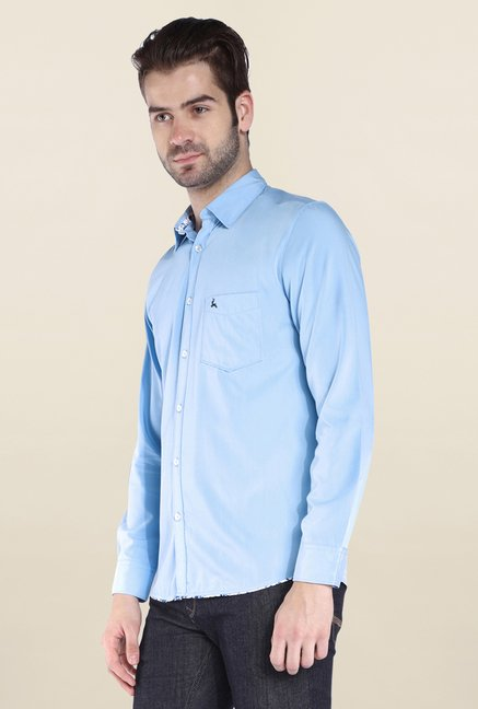 Parx Blue Solid Shirt