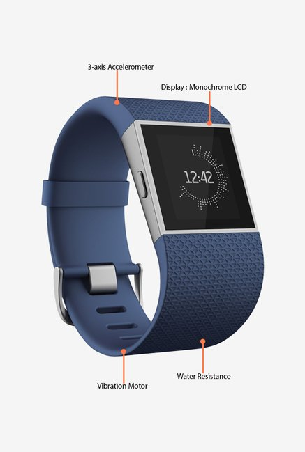 Fitbit Surge Ultimate Fitness Super Watch, Large (Blue)