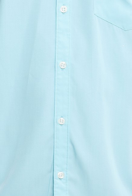 Parx Light Blue Solid Shirt