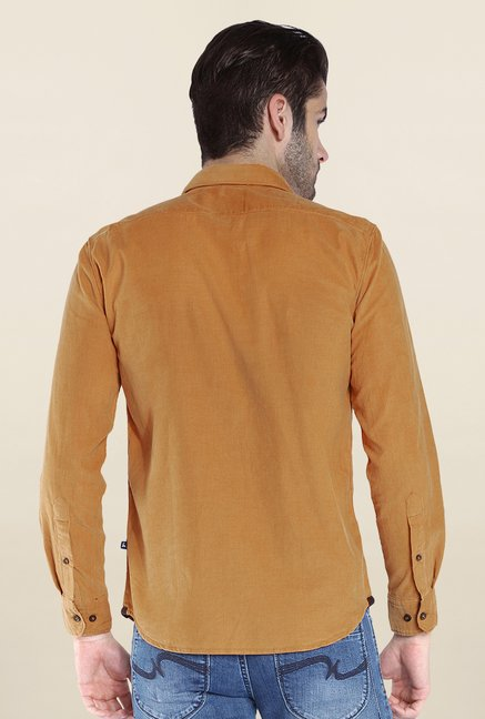 Parx Brown Solid Shirt