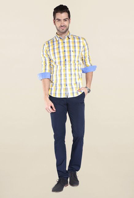 Parx Yellow Checks Shirt