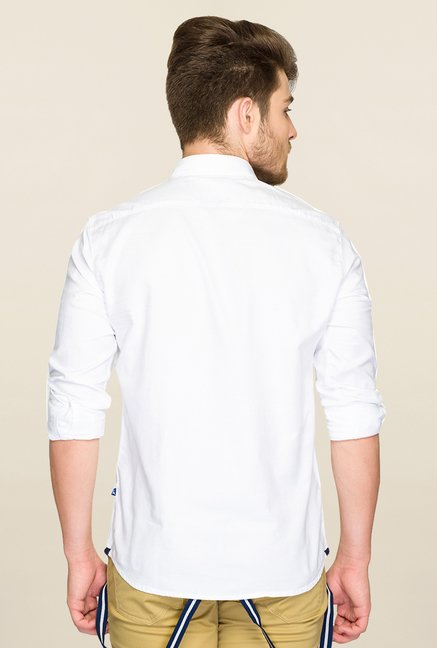 Parx White Solid Shirt