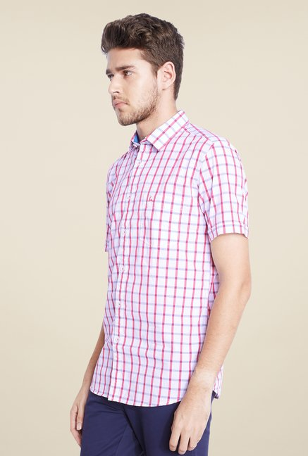 Parx White Checks Shirt