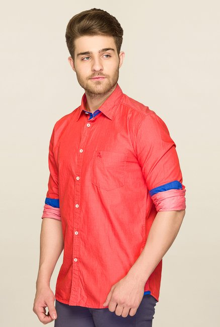 Parx Orange Solid Shirt