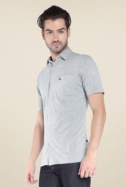 Parx Grey Textured Shirt
