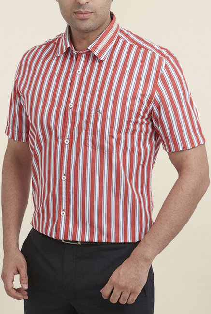 Parx Red Striped Shirt