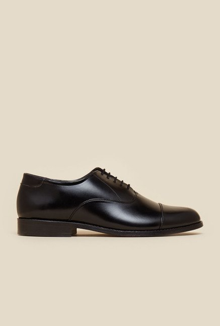 Metro Black Oxford Leather Shoes