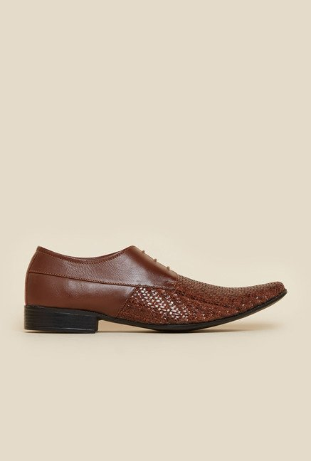 Metro Tan Derby Shoes