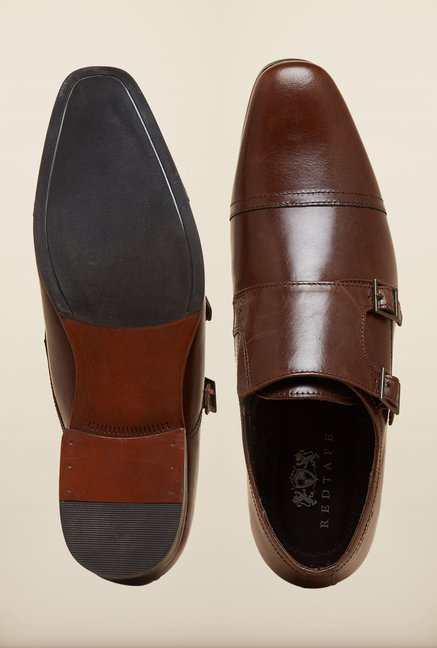 Red Tape Dark Brown Slip-ons