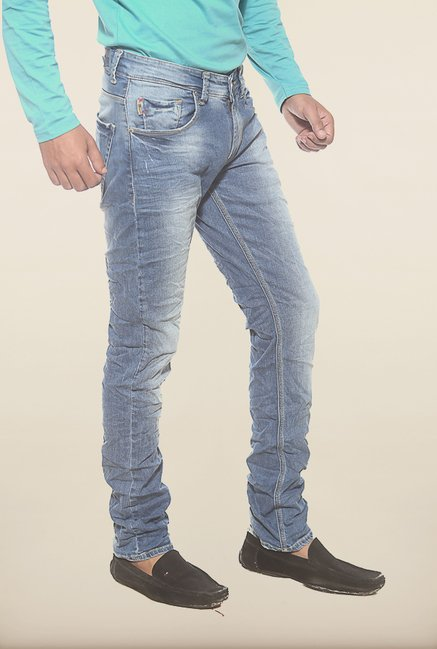 Spykar Blue Denim Low Rise Skinny Fit Jeans