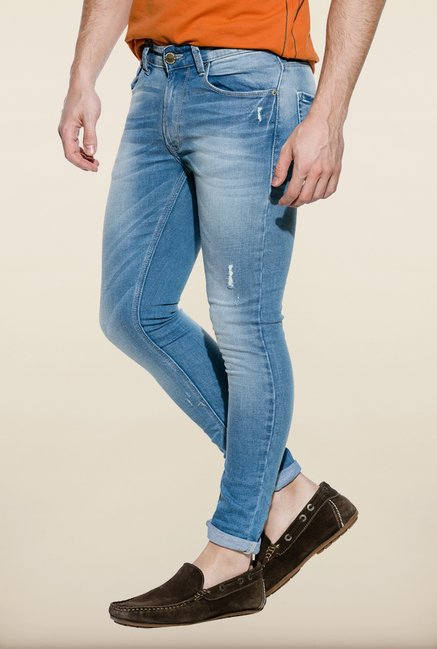 Spykar Light Blue Low Rise Skinny Fit Jeans