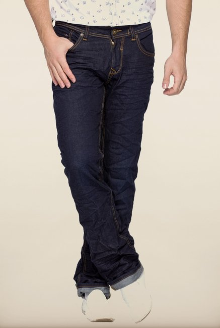 Spykar Dark Blue Slim Fit Jeans