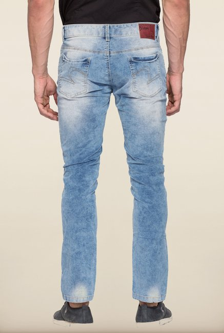 Spykar Light Blue Washed Skinny Fit Jeans