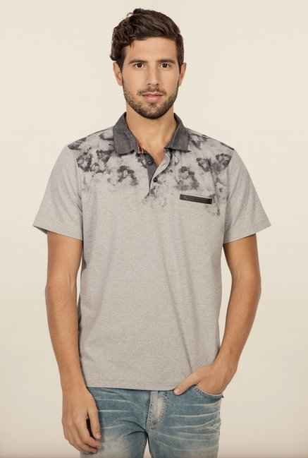 Spykar Grey Polo T shirt
