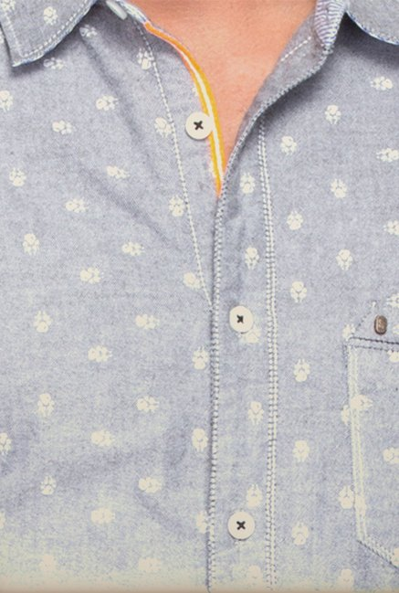 Spykar Grey Printed Casual Shirt