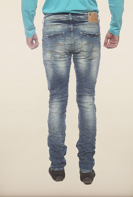 Spykar Blue Washed Low Rise Jeans