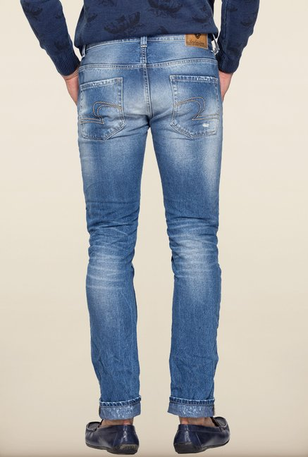 Spykar Blue Distressed Jeans