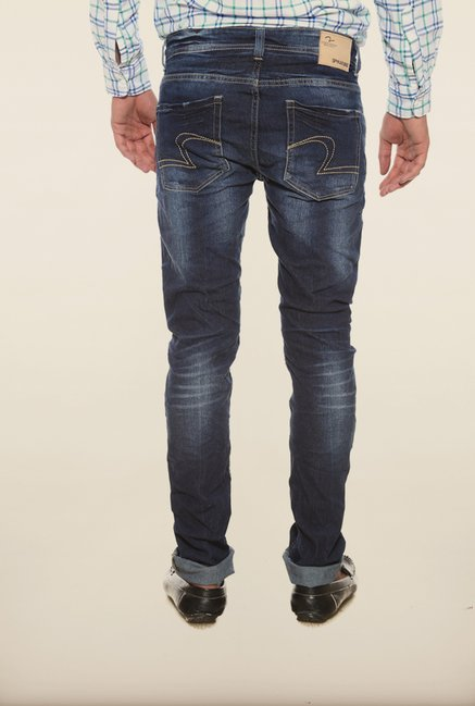 Spykar Dark Blue Low Rise Skinny Fit Denim Jeans