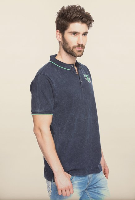 Spykar Navy Slim Fit T shirt