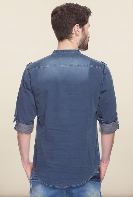 Spykar Denim Blue Casual Shirt
