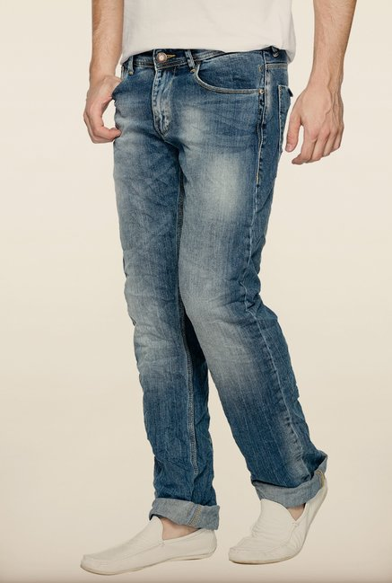 Spykar Blue Low Rise Slim Fit Jeans