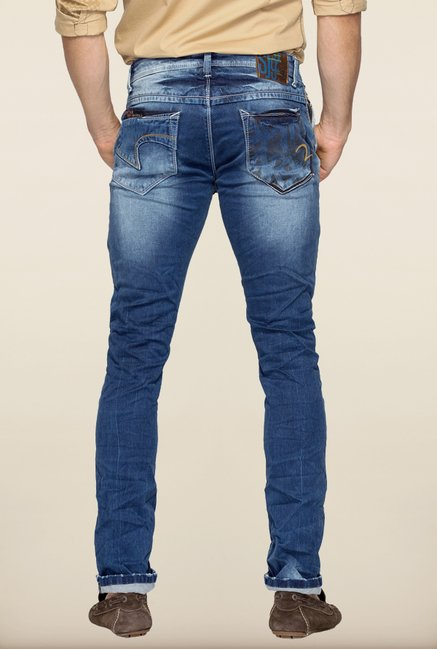 Spykar Blue Low Rise Jeans