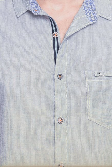 Spykar Grey Solid Casual Shirt