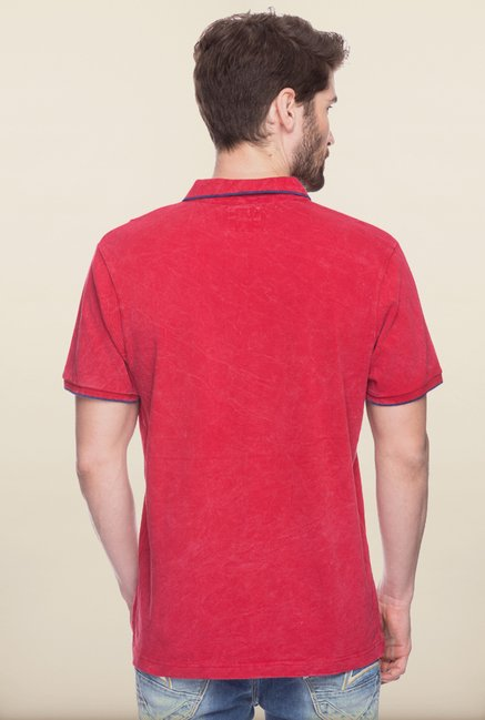 Spykar Red Polo T shirt